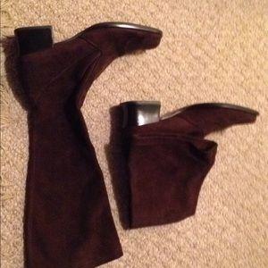 Women's Franco Sarto suede knee high boots sz. 6